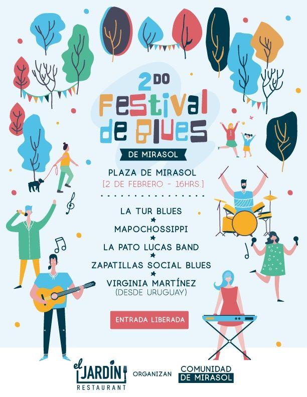 Afiche 2do Festival de Blues
