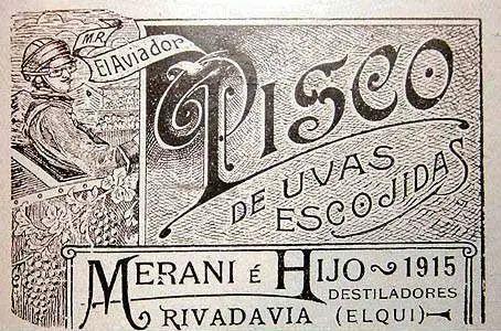 Etiqueta Pisco