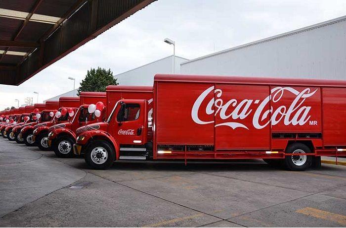 Camiones repartidores Coca-Cola