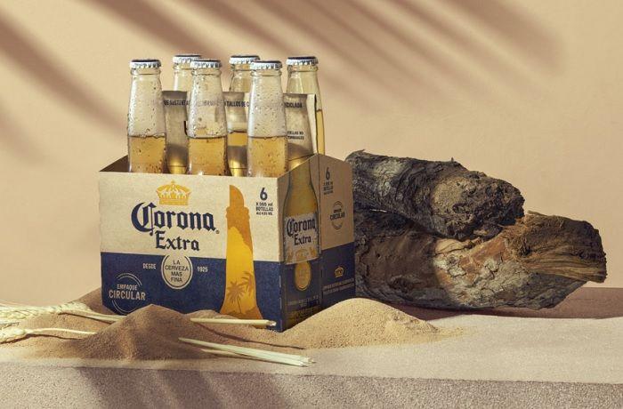 Cerveza Corona en envase de cebada