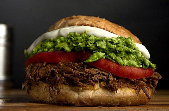 Receta de sándwich italiano con carne mechada